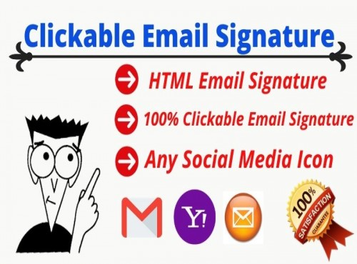 Create your clickable email signatare