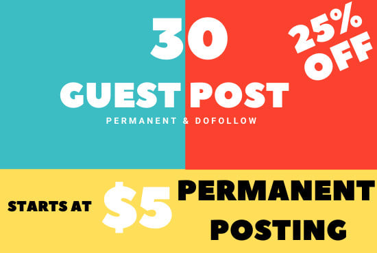 I will do premium guest post and blogger outreach service
