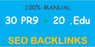 I will create high quality 30 pr9 & 20 edu gov backlinks refer to your website