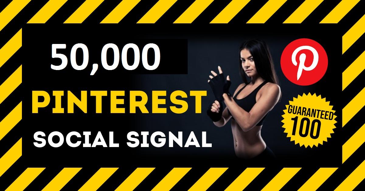 HQ Service 50,000 Pinterest Social Signal PBN Backlink Share Bookmarks Important Google Ranking