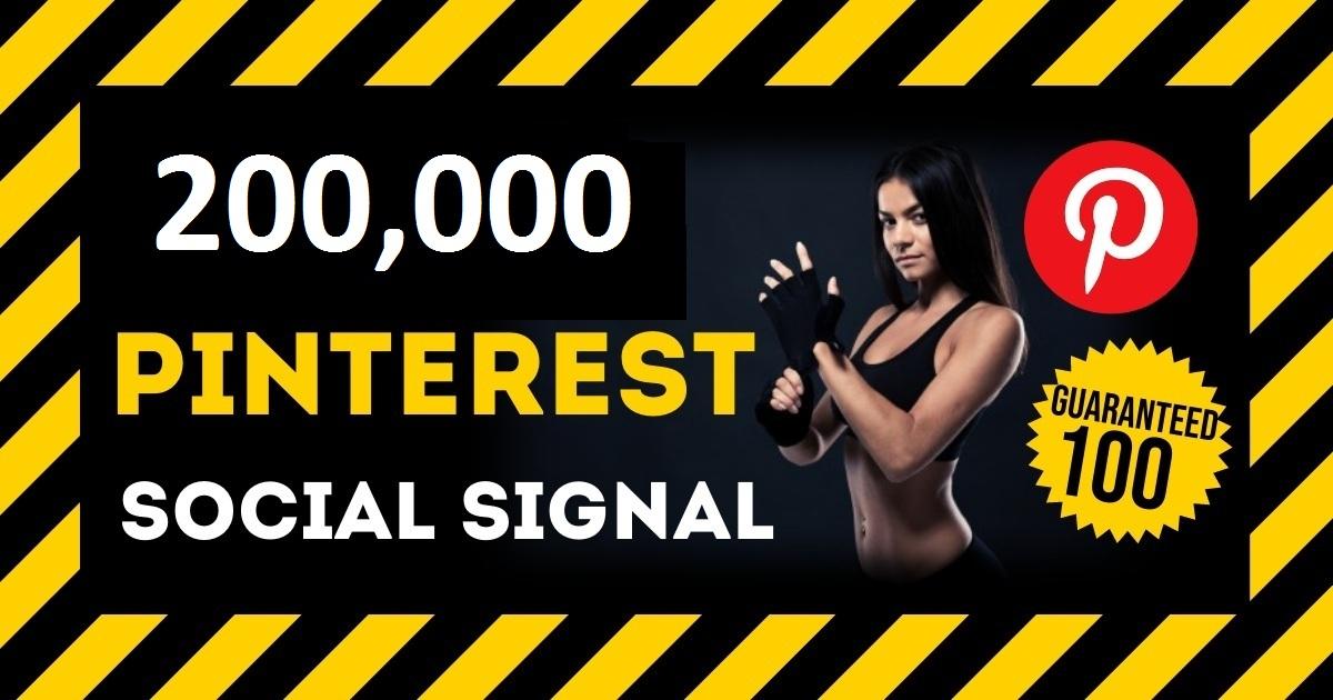HQ Service 200,000 Pinterest Social Signal PBN Backlink Share Bookmarks Important Google Ranking