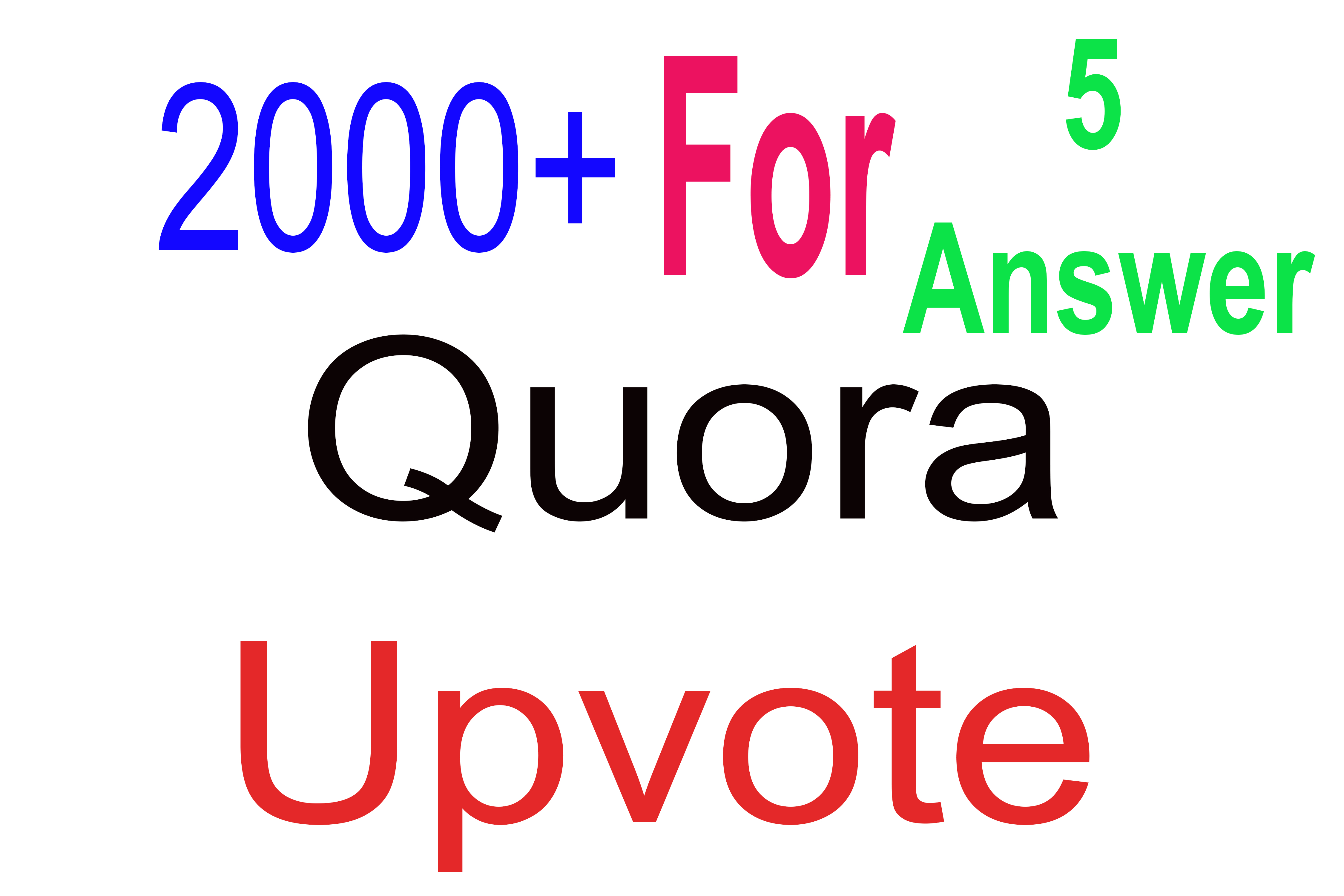 2000+ Quora Upvotes for your answer