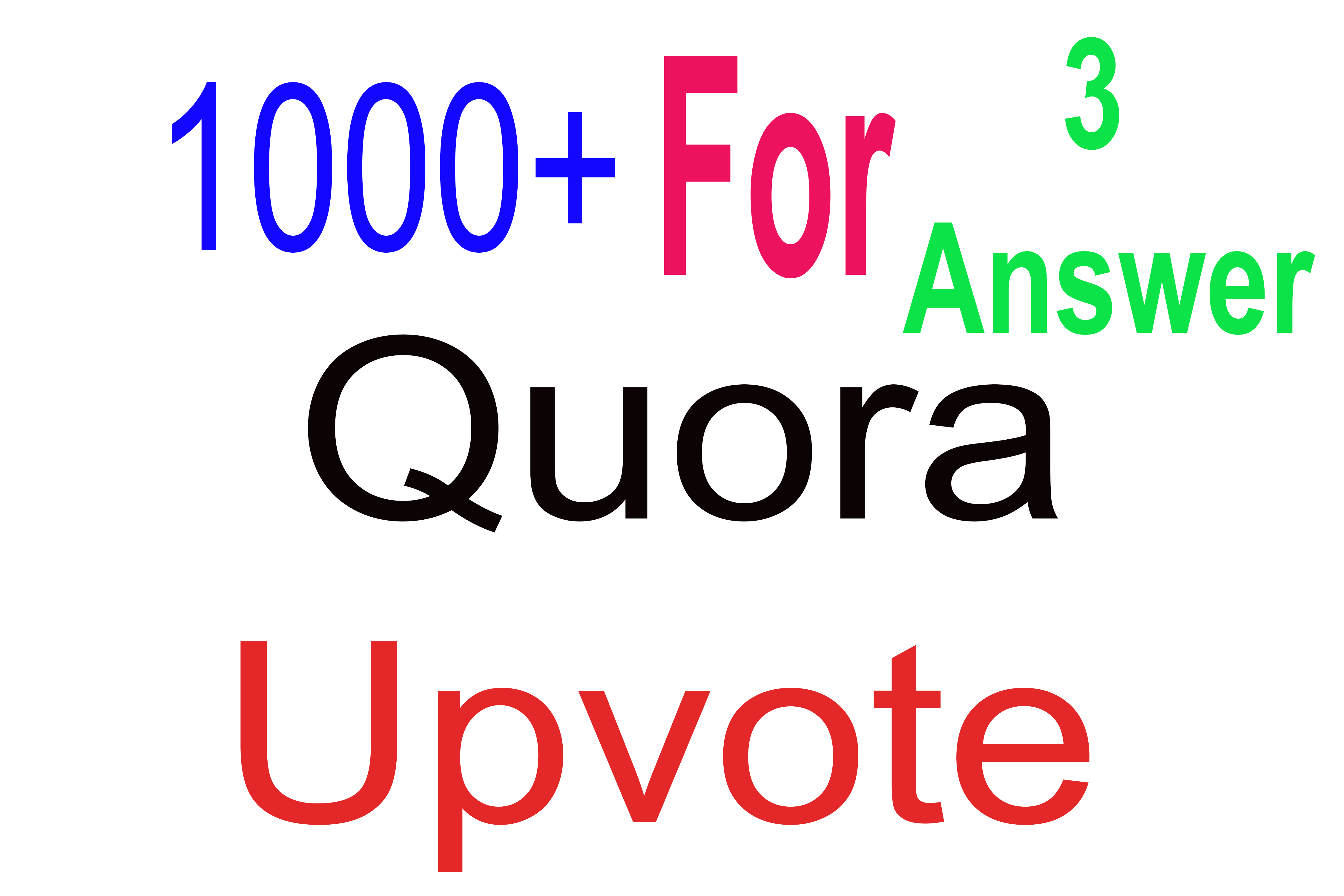 1000+ Quora Upvotes for your answer