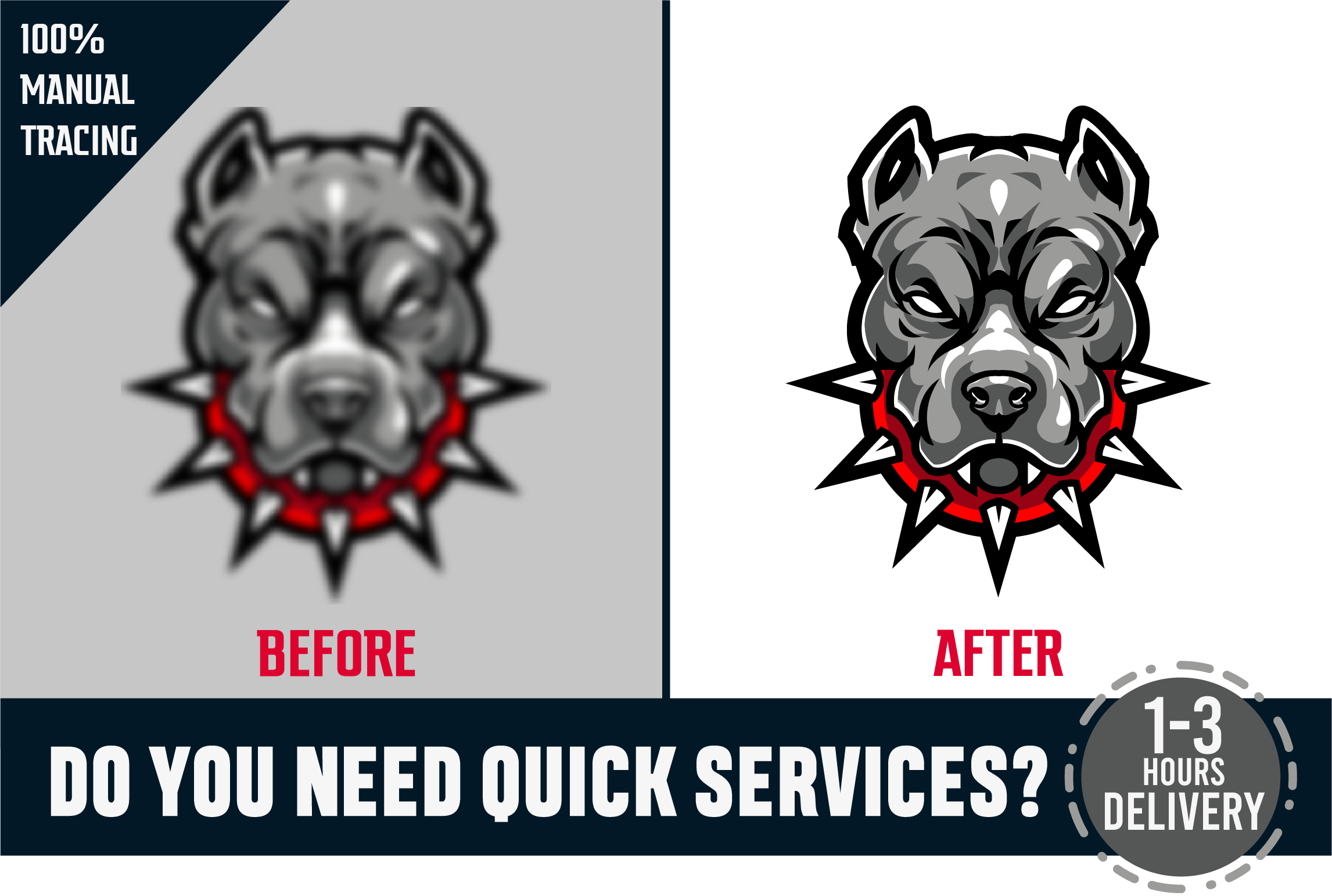 I will do vector tracing,vectorise,recreate,redraw logo,icon,tattoo,symbol and more