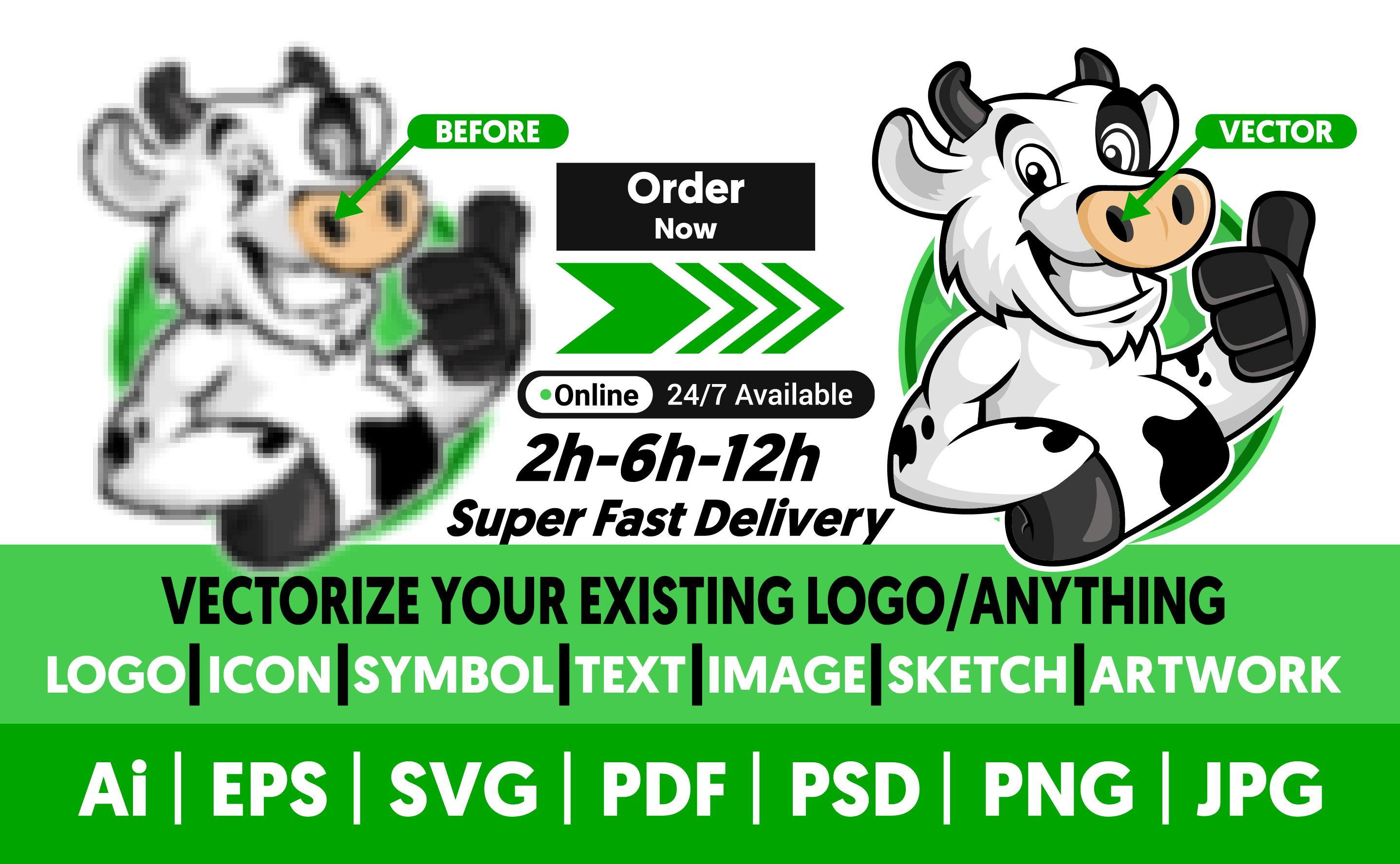 I will do vector tracing, vectorise, recreate, redraw logo, icon, tattoo, symbol and more