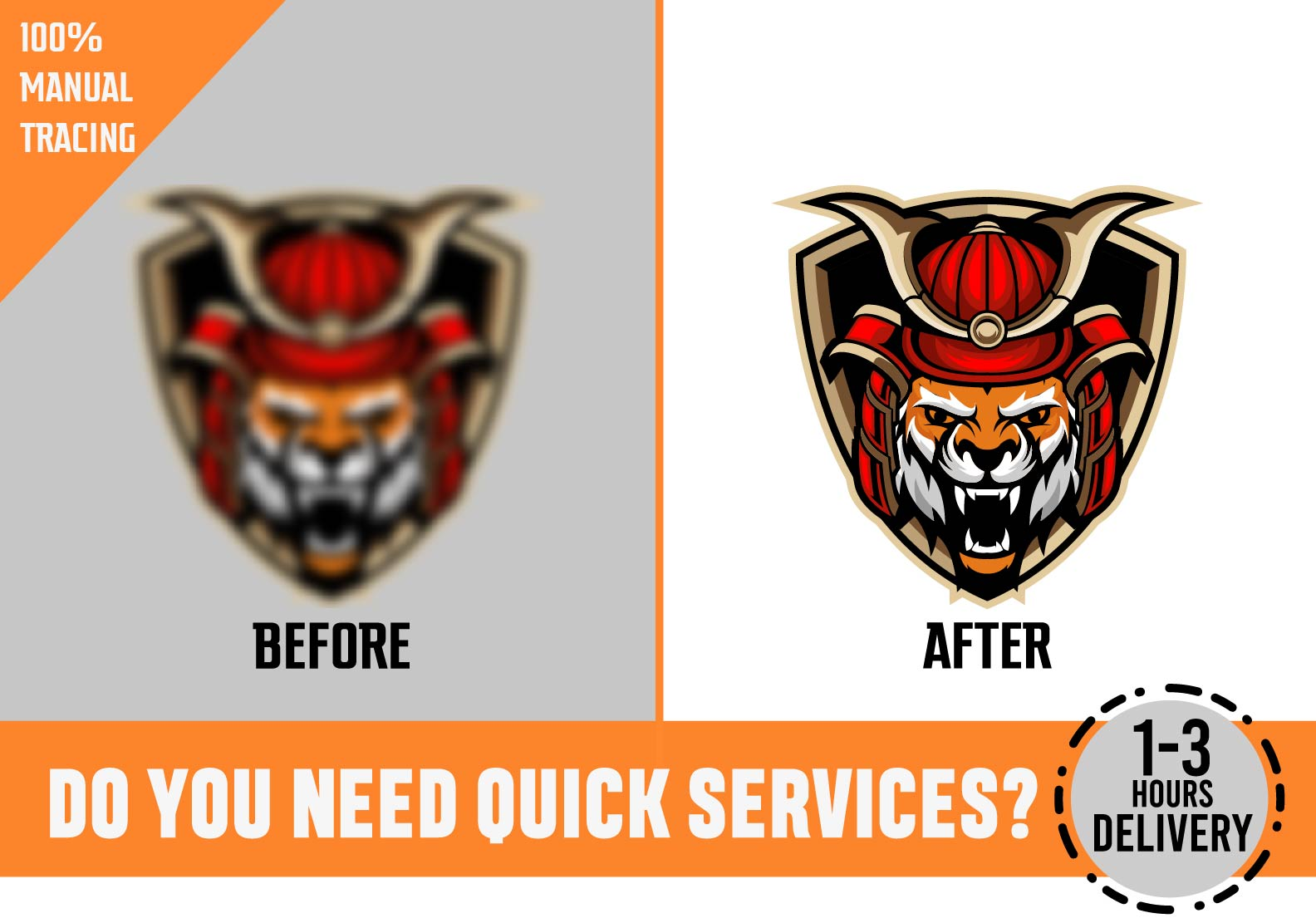 I will do vector tracing, vectorise, recreate, redraw logo, icon, tattoo, symbol and more