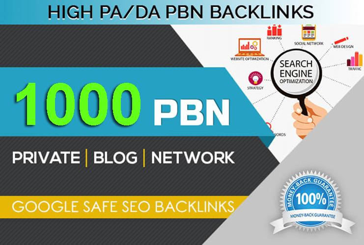 create 1000 high quality PBN Backlinks