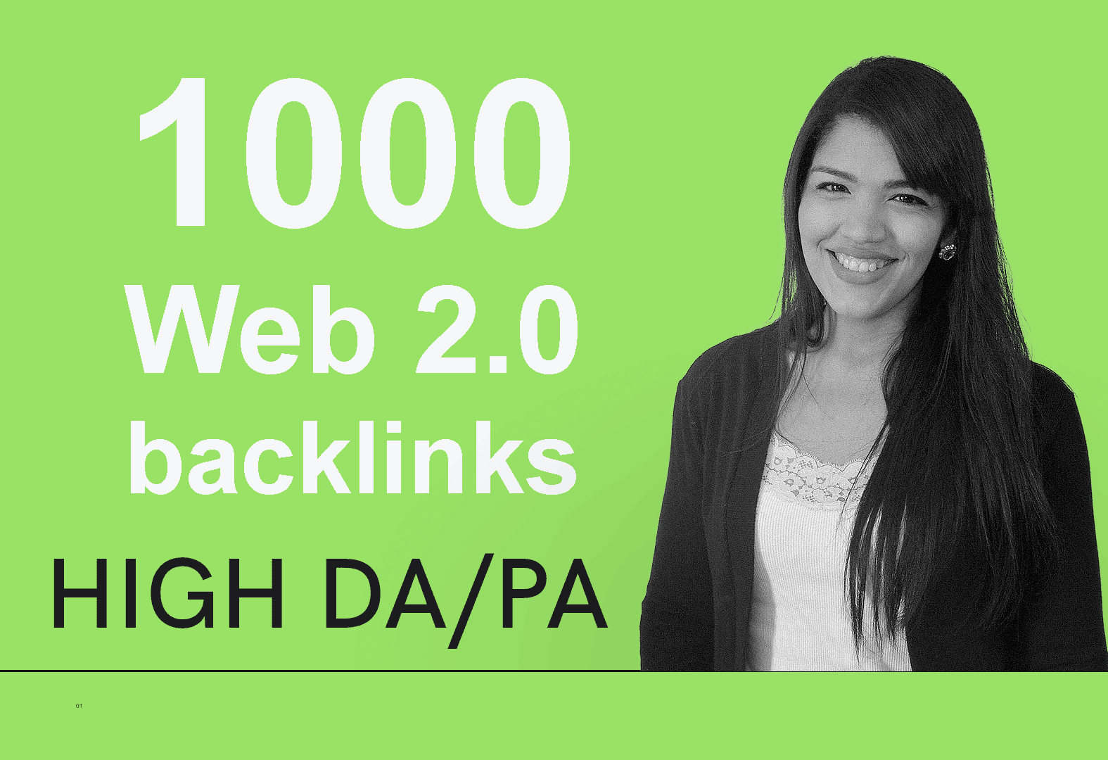 build 1000 authority web 2.0 backlinks from high DA PA