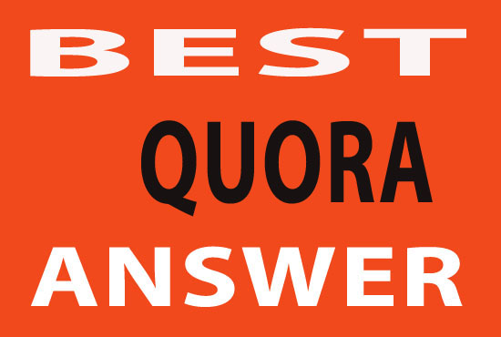 I will provide high quality best 30 Quora answer with backlinks