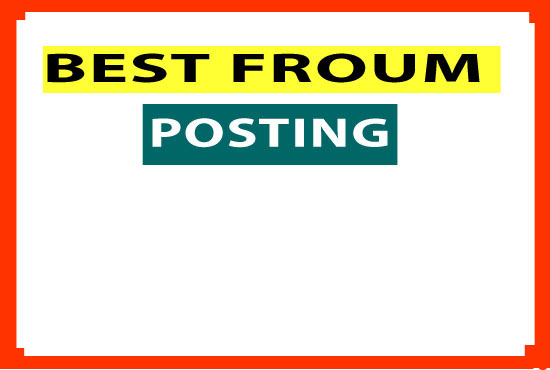 Promote your website HQ by 10 Forum posting