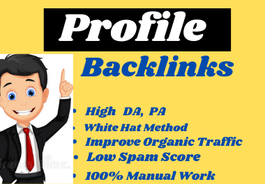 I will do 50 high authority profile backlinks for your Website