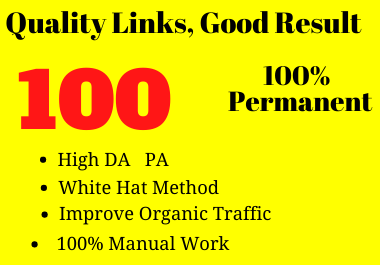 I will do 100 high authority profile backlinks for your Website