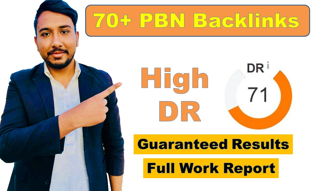 I will create 10 DR 70 homepage backlinks permanent and do follow