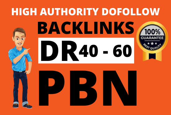 I will 40 manually build high dr 60 plus PBN authority dofollow backlinks