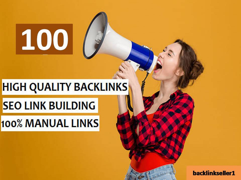 I will do 100 SEO link building backlinks, for google ranking of page SEO