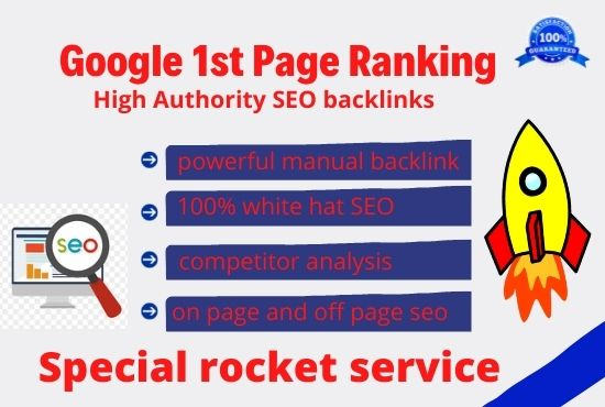 rocket seo service with high quality backlink