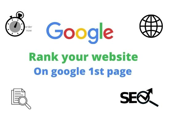 Guaranteed rank on google 1st page service with high quality backlink