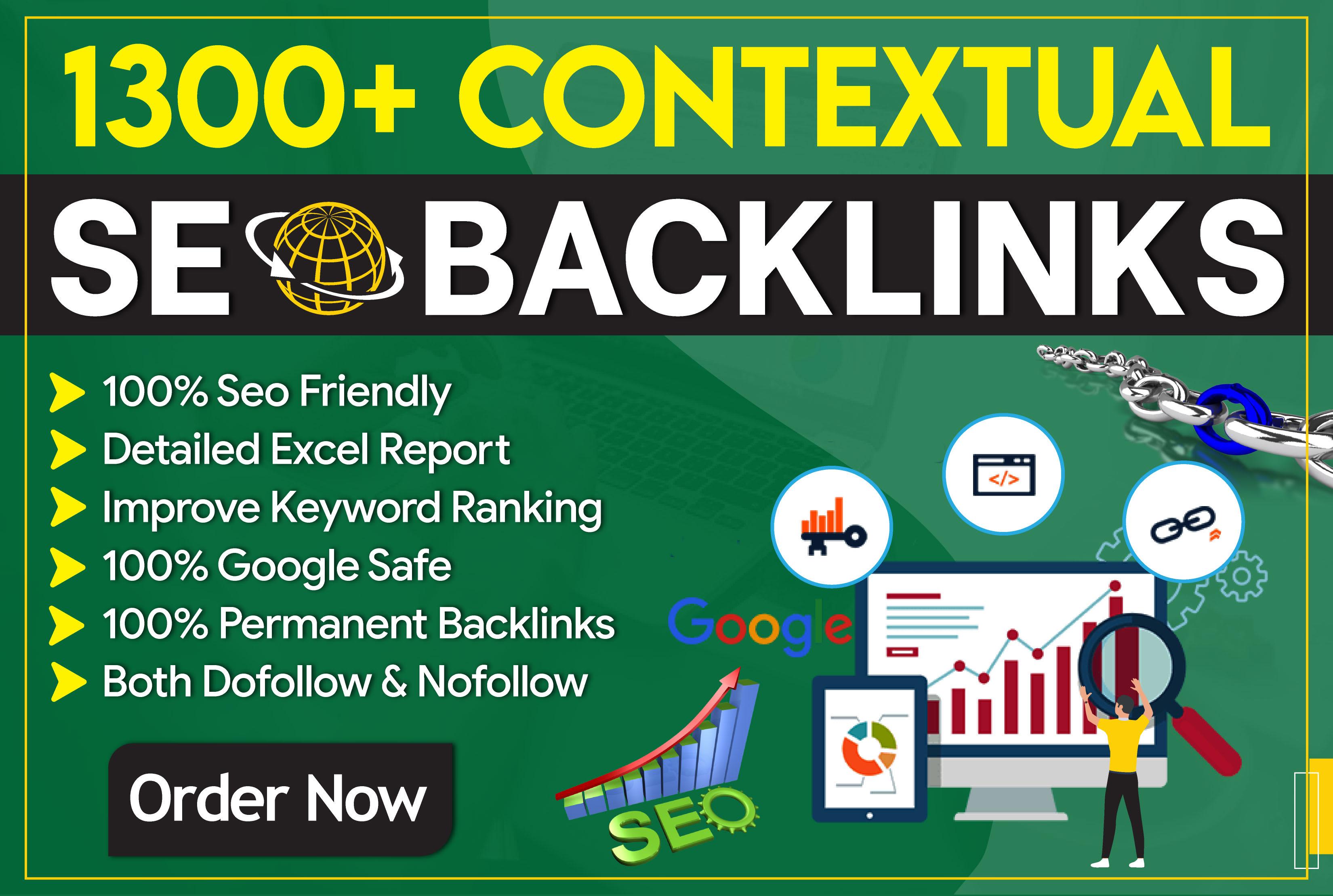 Build 1300 Plus Manual Contextual Dofollow Seo Backlinks Service