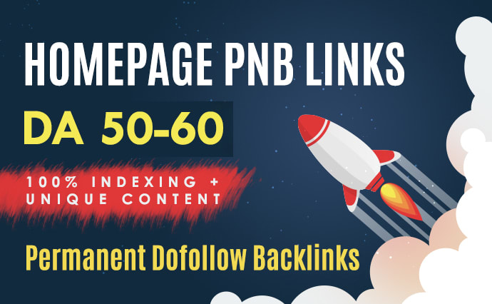 3 High Quality DA 50+ Homepage Dofollow PBN Backlinks
