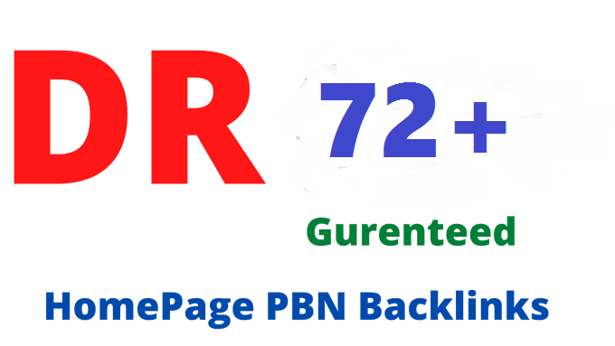 Get 3 DR 72+ High Quality Homepage PBN Backlinks