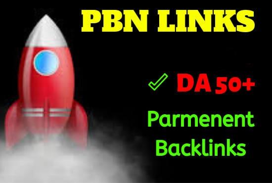 6 High Quality DA 50+ Homepage Dofollow PBN Backlinks