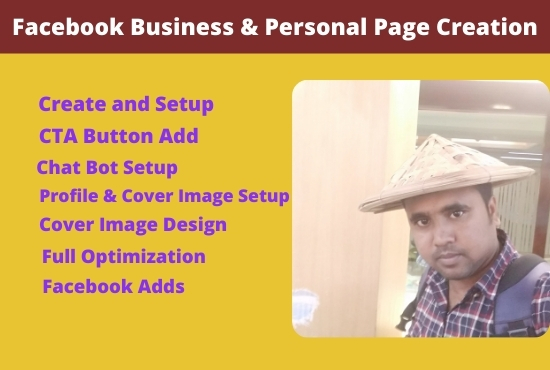 I will do Facebook business and personal page creation with optimize