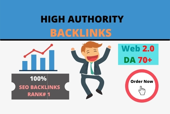 I will make high authority quality SEO Dofollow Backlinks for top rank on Google