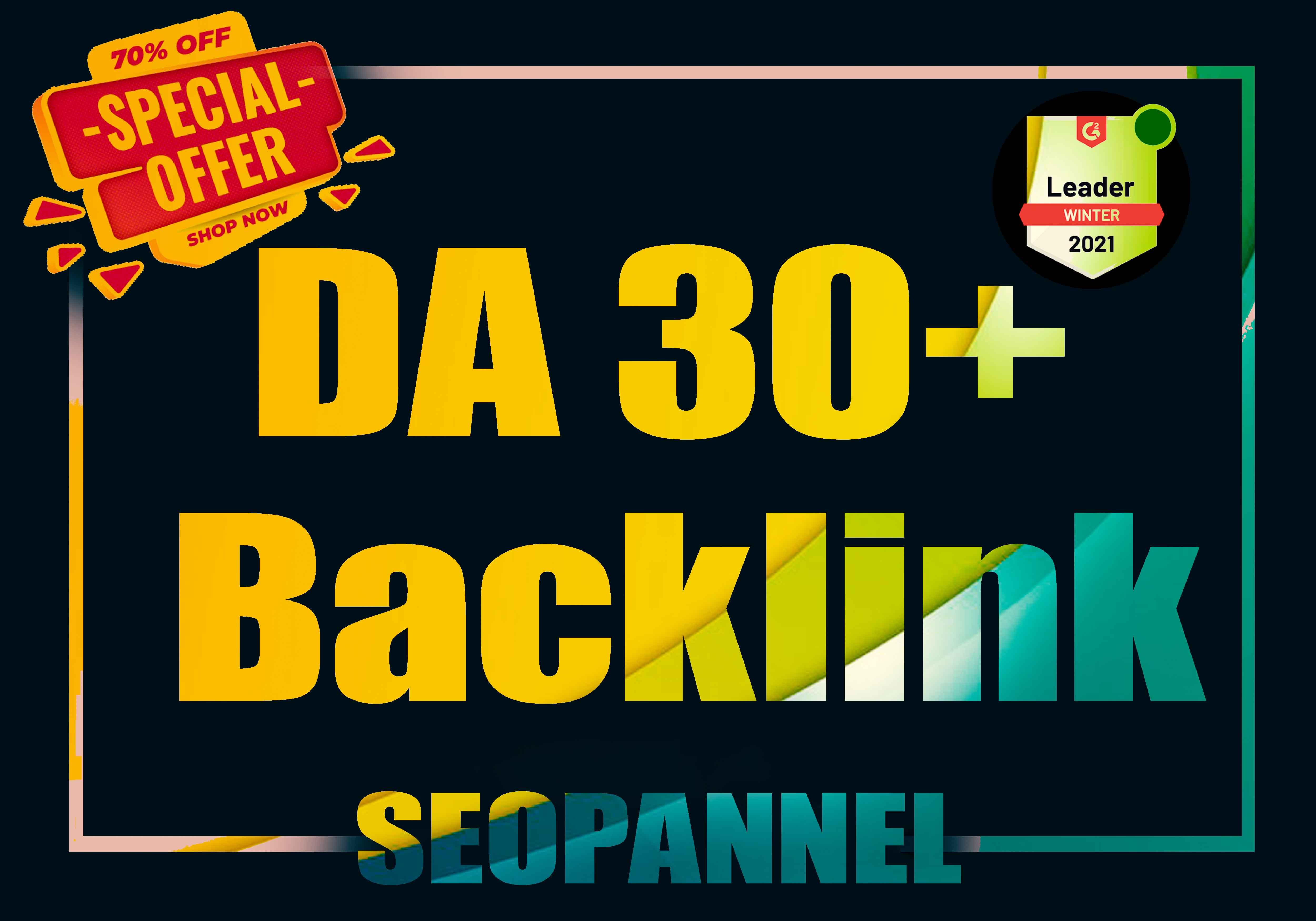 20 Creative DA30+ Backlink From Manual backlink