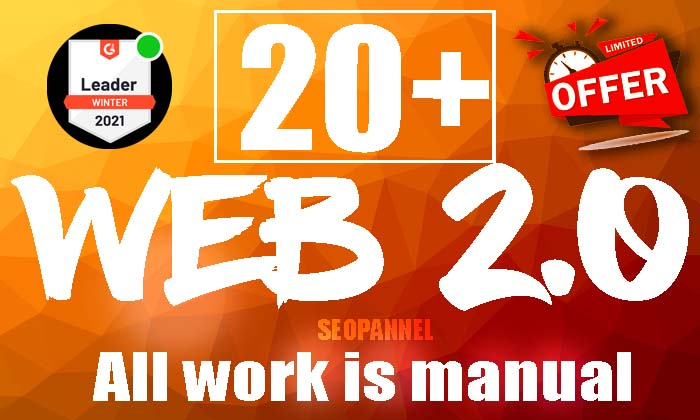 Fresh Manual 20 web2.0 Backlink from High DA PA MOZ Rank Backlink