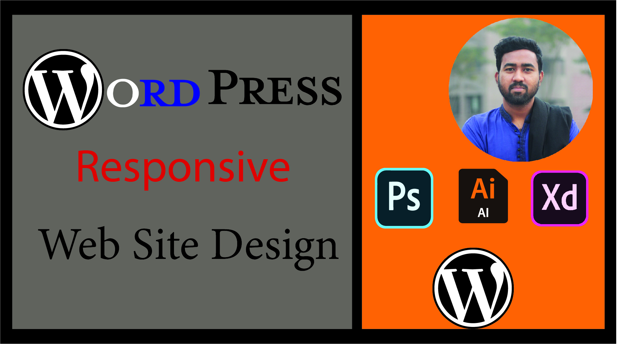 i will design responsive wordpress website with any template