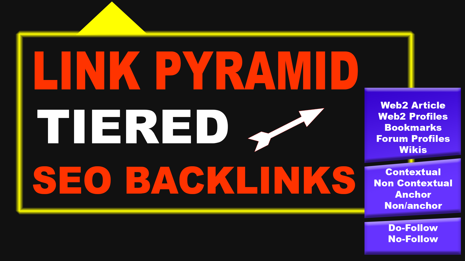 Build SEO Link pyramid tiered backlinks for your website