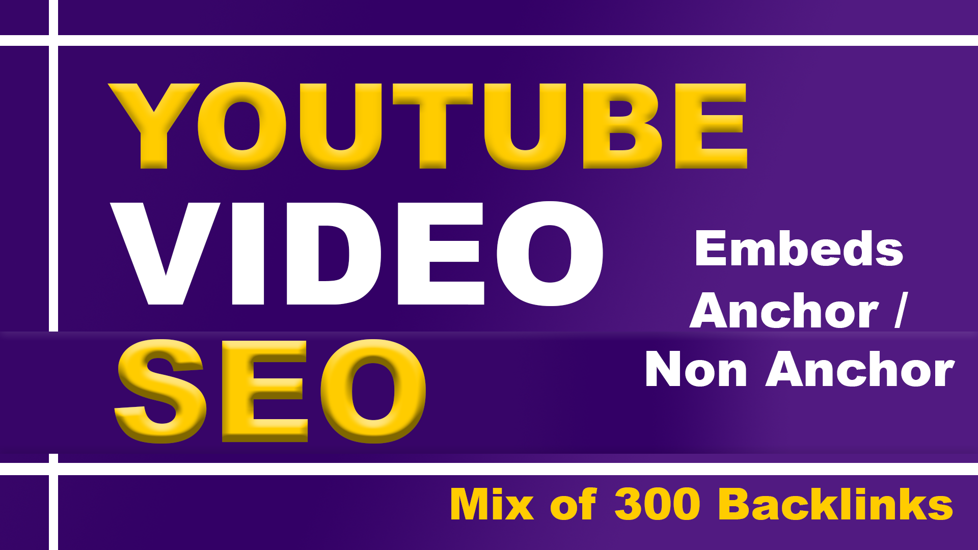 Off page SEO backlinks for YOUTUBE video ranking