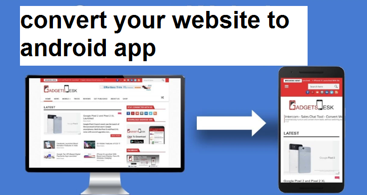 I will convert your website to android app
