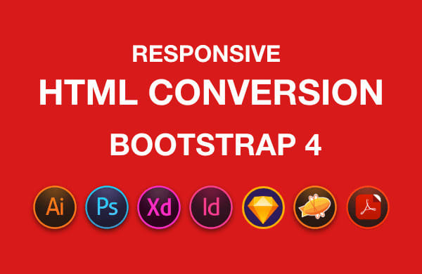 I will convert sketch to HTML,  xd to HTML,  PSD to HTML responsive