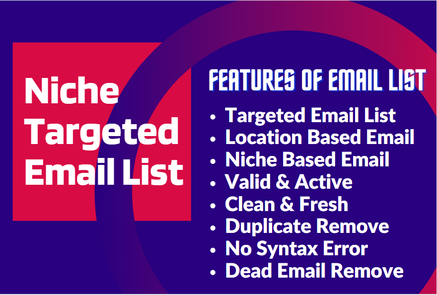 I will collect 5000 niche targeted bulk email list for your email marketing