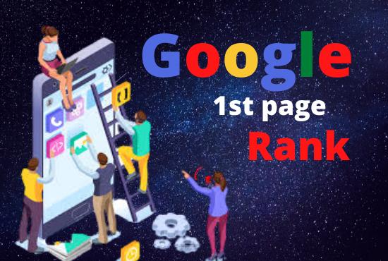 Ranking Your Website on Google,  30 Days SEO Backlinks Manually
