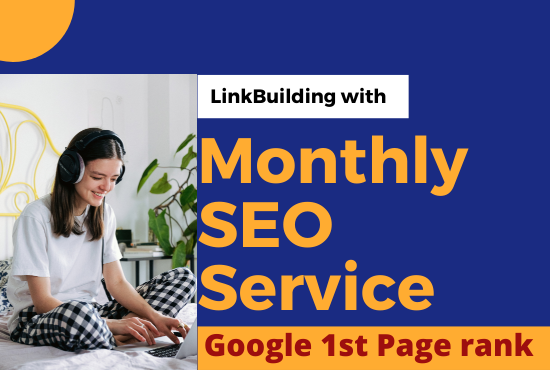 I will give monthly off page SEO service manual high quality backlinks