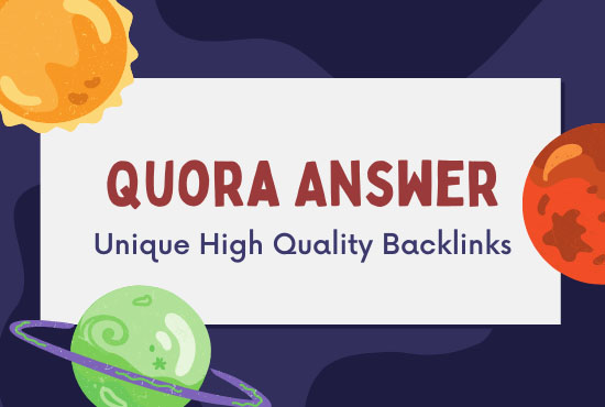 I will provide 10+2Free high quality Quora answers.