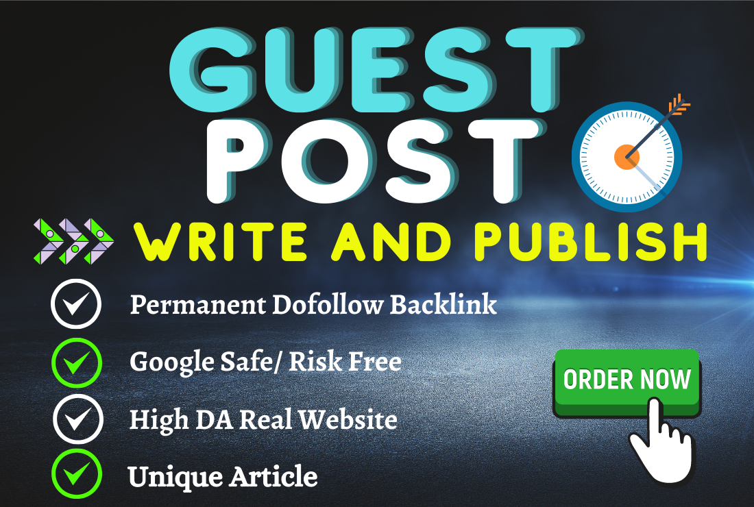 Article writing and HQ Permanent Dofollow Guest Post Backlink