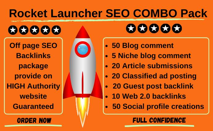 I will provide offpage seo backlinks combo pack on high da website
