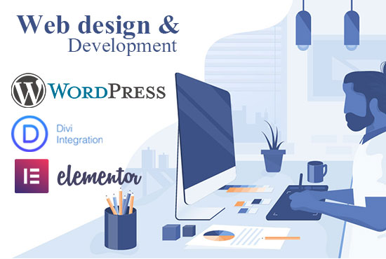 I will develop a modern Word press website with a unique web design