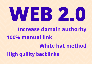 30 Web 2.0 Backlinks High Authority Do- Follow permanent contextual link building