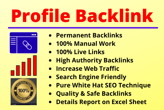 80 Profile Backlinks High Authority Permanent Manual Natural Link Building