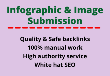 20 Image or Info graphic Submission High Authority low spam score website Backlinks