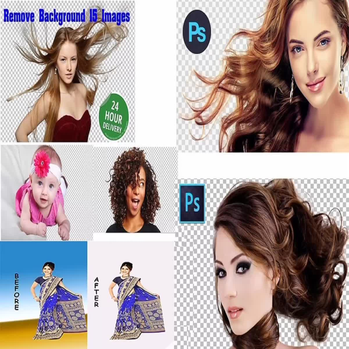 I will do photoshop edits, background remove, retouching, clipping path within 12 hours