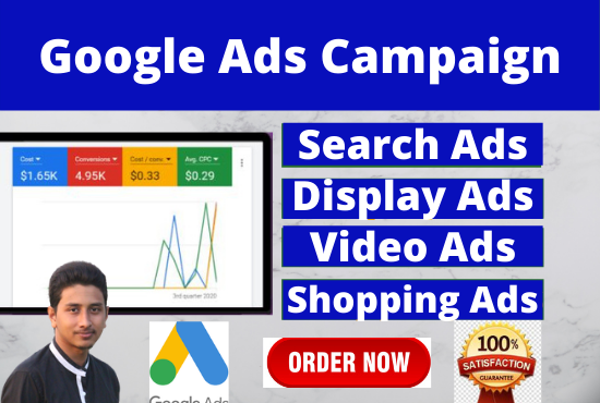 I will setup an effective google ads adwords ppc campaigns to improve sales