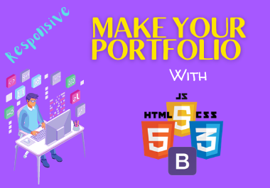 Make your responsive Portfolio with Bootstrap