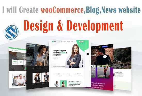 I will design and develop modern wordpress website
