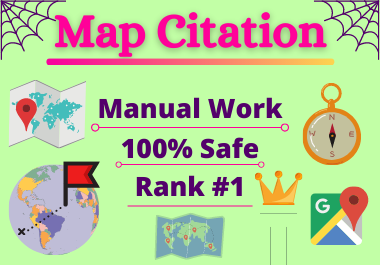 200 Maps Citation Manual high authority permanent backlink local seo citation