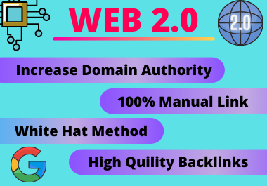 30 Web2.0 Backlinks high authority link building manual permanent PBN